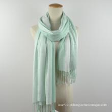 Novas senhoras de Outono da Primavera listra splice lenço xaile sólido