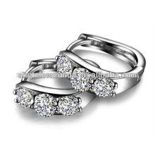 Hot venda jóias CZ prata brincos de moda para a menina china fornecedor