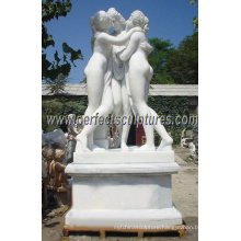 Carving Marble Sculpture with Carved Stone (SY-X1012A)