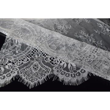 100% Nylon Panel Lace Fabric Design-E