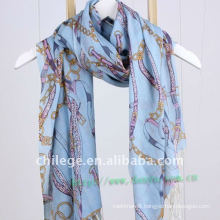 100% wool printed scarf