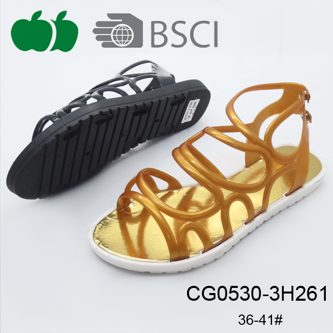 Lady Latest New Design Flat Model Trendy Sandals