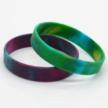 Wholesale Custom Tie Dye Silicone Rubber Wristband