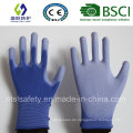 Blauer PU-beschichteter Arbeitsschutzhandschuh (SL-PU201B1)