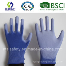 Blue PU Coated Work Safety Glove (SL-PU201B1)