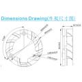 Dz4010 soporte 40 * 40 * 10 mm refrigeración ventilador