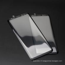 Protecteur d'écran liquide nano incurvé par usine en gros 3D, protecteur d'écran facile d'installer de verre trempé pour Samsung s9