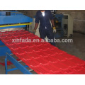 Glazed roll forming machine