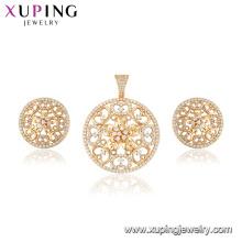 64878 Xuping évider forme de fleur plus récent ensemble de bijoux de conception pour les femmes