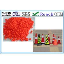 Matériau PVC Construction Orange Conique Granules