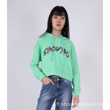HOODIE CROPPED POUR FEMME