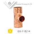 EM-F-B214 Manufacturers copper tee pipe fittings
