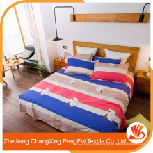 Simple and refreshing designs bed sheet for export