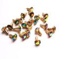 Colored Crystal Rivets with Jagged Bottom