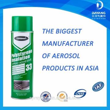 Whosale Sprayidea 33 aerosol spray adhesivo y pegamento para materiales de aislamiento térmico