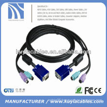 PS/2 KVM VGA MALE TO MALE CABLE FOR MOUSE & KYEBOARD