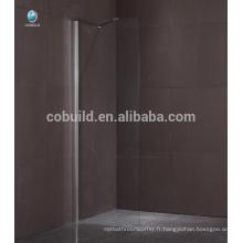 K-563 alibaba chine marcher dans douche douche baignoire écran sans cadre unique porte verre douche écran