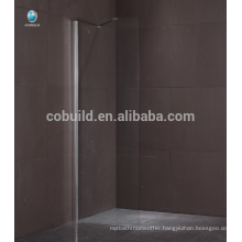 K-563 alibaba china walk in shower bath shower screen frameless single door glass shower screen