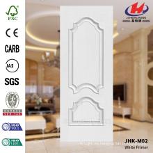 JHK-M02 Bulge Design Blanco Primer Empossing HDF piel de la puerta