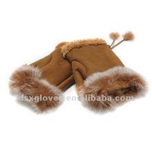 girls half finger winter gloves