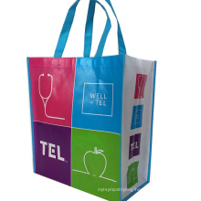 Recycle PP high quality light laminated non woven bag with handle