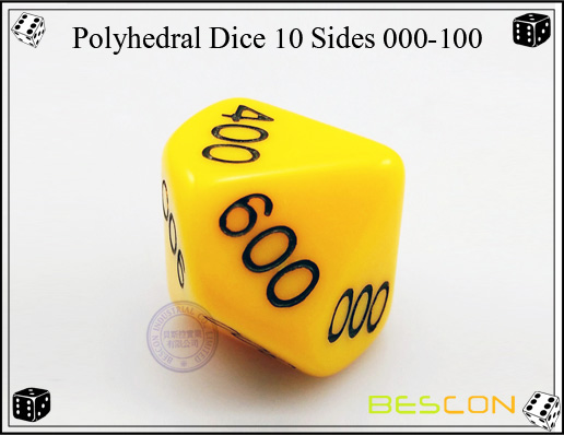 Polyhedral Dice 10 Sides 000-100