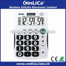 Calculateur de bouton en plastique / 8 chiffres calculatrice d'affichage grand MS-183