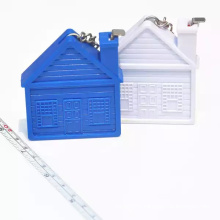 BSCI House Shapes Tape Measure Keychain For Promotion