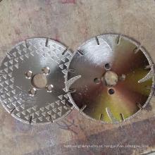 Discos de centro de centro de disco de corte e rebarbação deprimidos