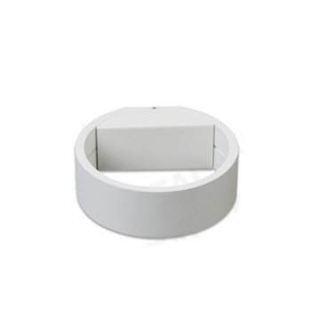 Circle - Lámpara de pared LED para exteriores, blanca, simple