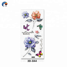3D CMYK flower designs body tattoo with customize