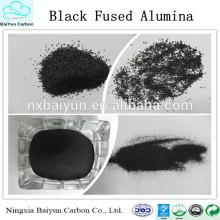 Fabricante melhores vendas alta dureza Óxido de alumínio fundido preto