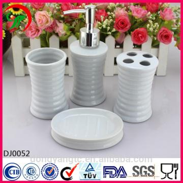 white ceramic bathroom set china , bathroom accessory set , bathroom set