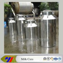 Barril de leche de acero inoxidable con grifo