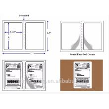 hot sale paper material self adhesive half sheet shipping label