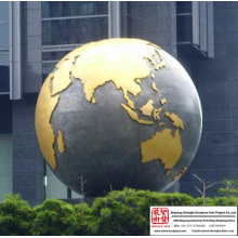 Globe Bronze Sculpture