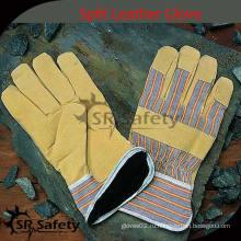 SRSAFETY Дешевые промышленные кожаные перчатки