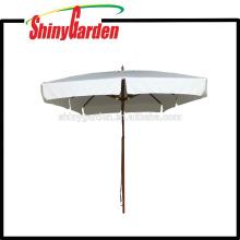 3 * 3M Pátio Beech Square guarda-chuva com corredor de plástico, hub e final top 8 costelas
