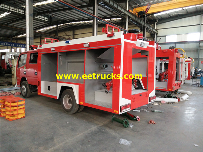 Euro4 Dongfeng 5000L Fire Fighting Trucks