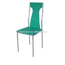 Chaise de restaurant verte, chaise de salle à manger en métal pour hôtel