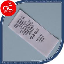Étiquette imprimée par coutume / étiquette de soin de lavage / pinte de ruban