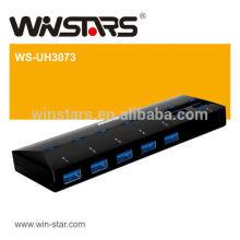 USB 3.0 7Port HUB com adaptador de energia super velocidade 5Gbps usb hub