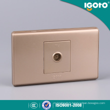 118*74mm TV Socket with Golden Color