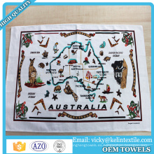 38x63cm algodón 100% lino toalla de té de impresión