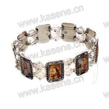 Hot Sale Fashion Antique Saints Fotos Metal Rosary Bracelet