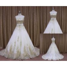 Высокое Качество Аппликация Кружева По Всей Реальные Фото Свадебное Платье