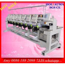 Máquina de bordado de agulha Holiauma oito cabeça 15 / t-shirt do vestuário computador máquina do bordado do tampão