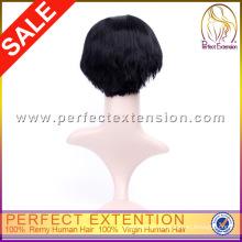 Tienda minorista Bob Style Remy Hair 100% Cheap Indian Hair Wig
