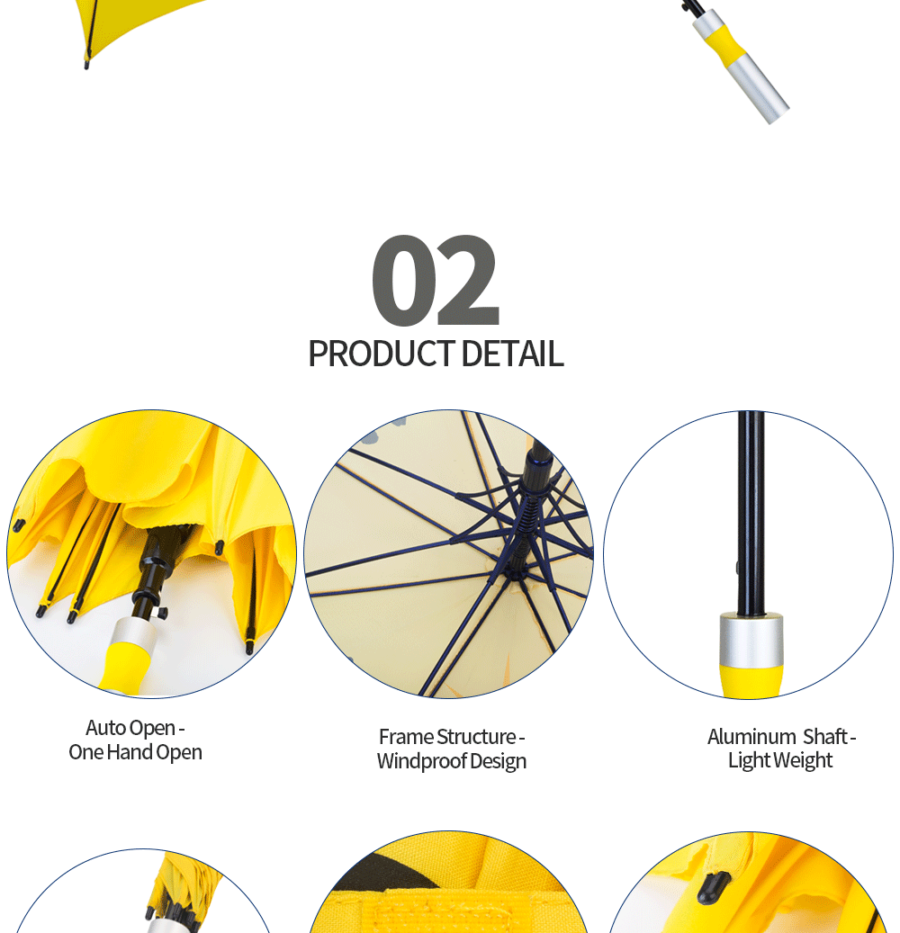 golf umbrella long handle