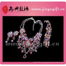 Modeschmuck Charming Wunderschöne Brilliant Heavy Diamond Halskette Set